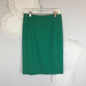J. Crew Pencil Skirt 0 Green Straight Spring Lined
